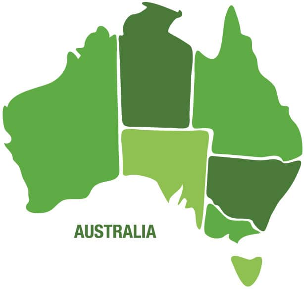 Alliance Areas of Expertise - Australia Map